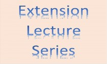 Extension Lecture Series